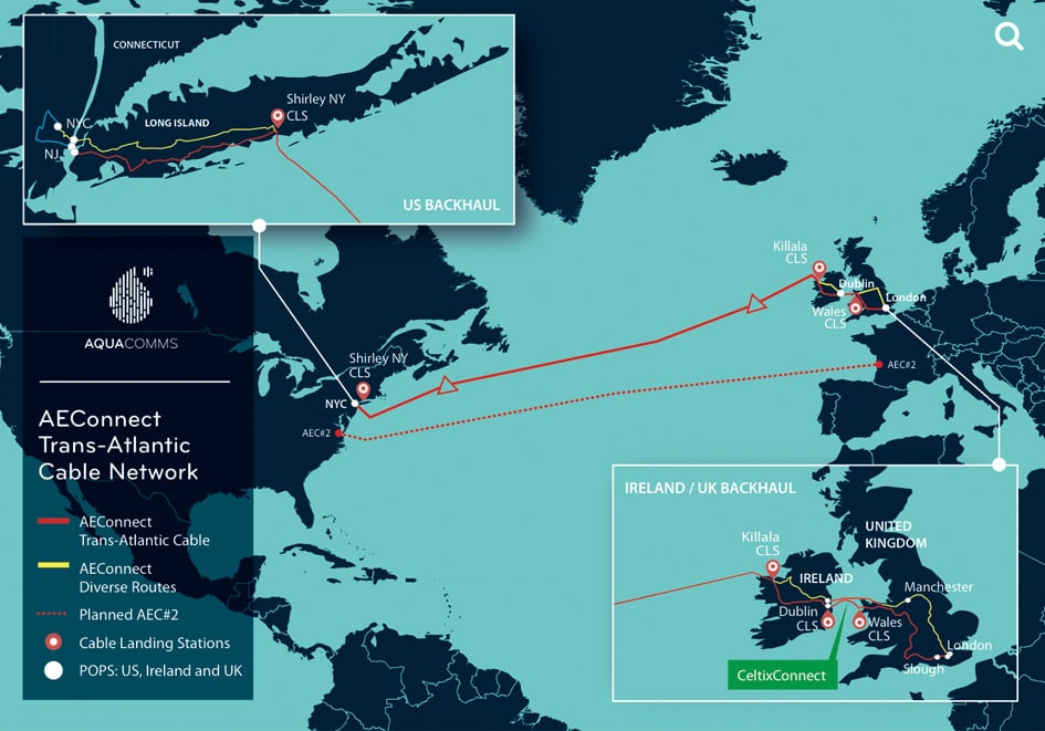 Aqua Comms' America Europe Connect Is Now Live and Available for Service