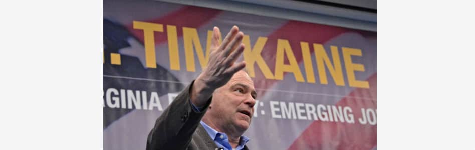 Kaine Makes Campaign Stop in Data Center Alley