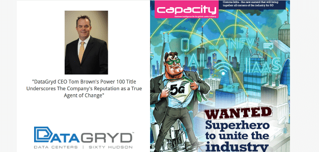 DataGryd CEO Tom Brown's Power 100 Title Underscores The Company's Reputation as a True Agent of Change