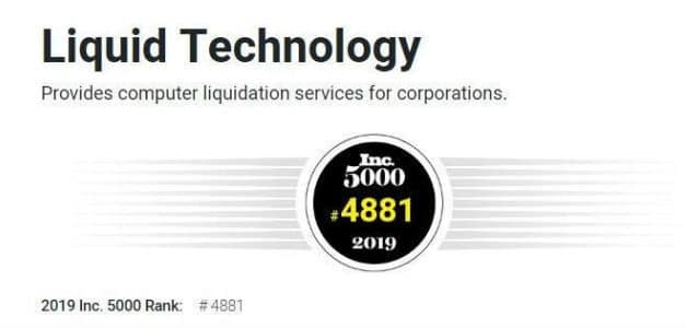 Liquid Technology Celebrates a Decade of Recognition on the Inc. 5000 List