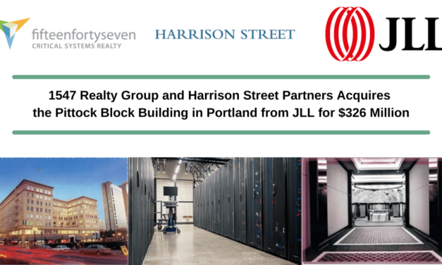 The Pittock Block Building Acquired by fifteenfortyseven Critical Systems Realty and Harrison Street Partners from JLL for $326 Million