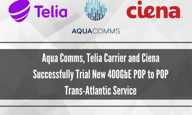 Aqua Comms, Telia Carrier and Ciena Successfully Trial New 400GbE POP to POP Trans-Atlantic Service