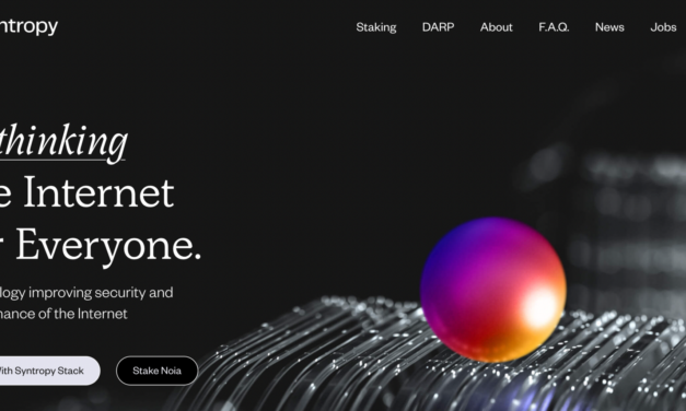 Syntropy Unveils its New Website and Plans for Rethinking the Internet